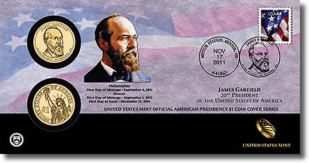 James Garfield Presidential Dollar Coin Cover