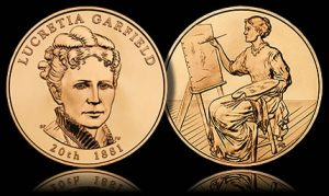 Lucretia Garfield First Spouse Medal