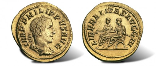 Unique Aureus of Philip II