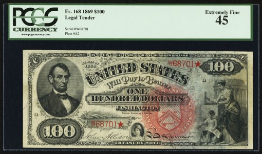 $100 Rainbow Legal Tender Note
