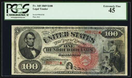 $100 Rainbow Legal Tender Note