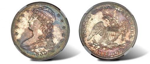 1839-O branch mint proof half dollar