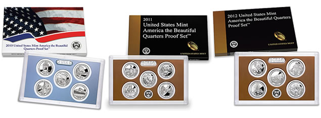 2010-2012 America the Beautiful Quarters Proof Sets