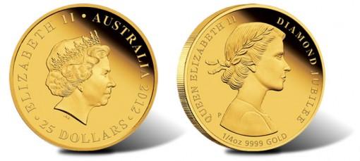 2012 Queen Elizabeth II Diamond Jubilee Australian Gold Coin