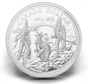 2012 WAR OF 1812 ANNIVERSARY SILVER DOLLAR
