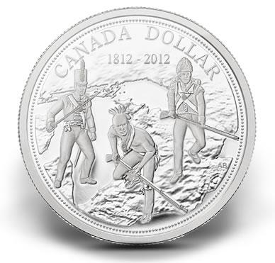 2012 WAR OF 1812 ANNIVERSARY SILVER DOLLAR