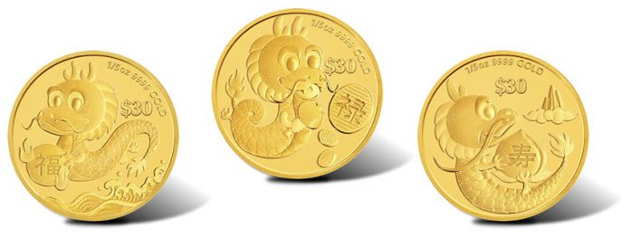 2012 Year of the Dragon Gold Coins - Prosperity, Longevity and Success