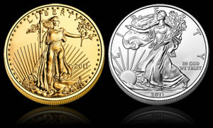 American Gold Eagle and American Silver Eagle