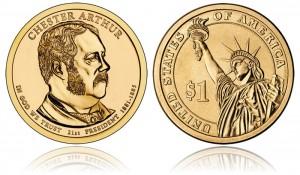 Chester A. Arthur Presidential $1 Coin