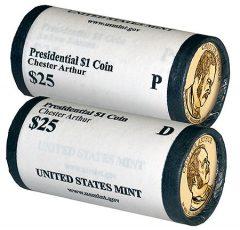 Chester A. Arthur Presidential $1 Coin Rolls