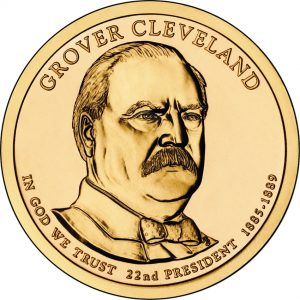 Grover Cleveland Presidential Dollar - First Term