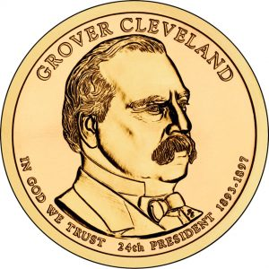Grover Cleveland Presidential Dollar - Second Term