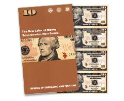 Series 2009 10 Uncut Currency Sheet