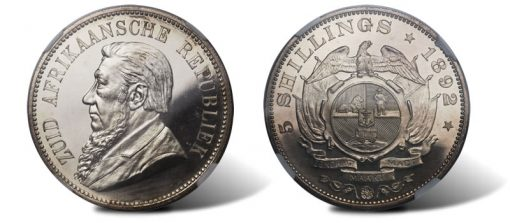 South Africa Republic Proof 5 Shilling 1892