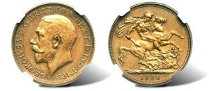 South African bronze 1928 pattern sovereign