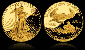 2011-W $25 Proof American Gold Eagle Coin