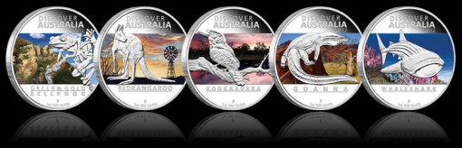2012 Discover Australia Silver Proof Coins