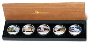 2012 Discover Australia Silver Proof Five-Coin Set