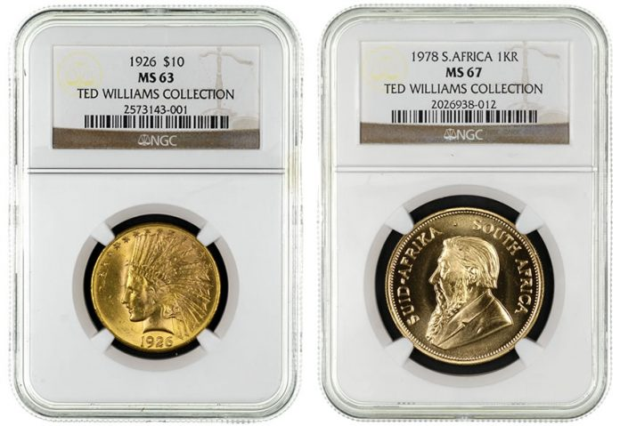Coins from Ted Williams Collection