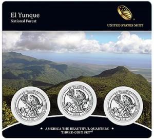 El Yunque Quarter Three-Coin Set
