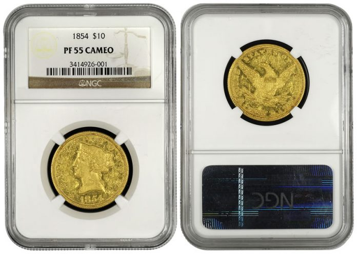 Proof 1854 $10 Gold Eagle Coin