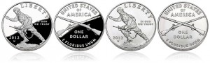 Proof and Uncirculated 2012 Infantry Soldier Silver Dollars