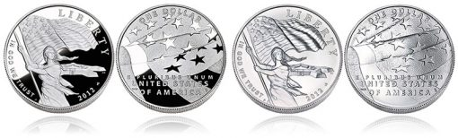 Proof and Uncirculated 2012 Star-Spangled Banner Silver Dollars