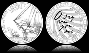 Star-Spangled Banner Silver $1 Designs