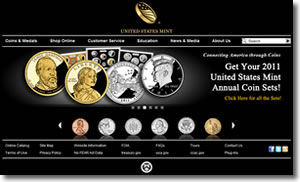 US Mint Site and Products