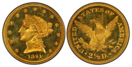 proof 1841 Quarter Eagle PCGS PR64