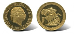 1817 George III (1760-1820), Proof Gold Sovereign