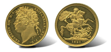 1821 George IV (1820-30), Proof Gold Sovereign