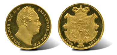 1831 William IV (1831-7), Proof Gold Sovereign