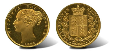 1853 Victoria (1837-1901), Proof Gold Sovereign