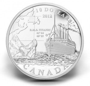 2012 $10 RMS TITANIC SILVER COMMEMORATIVE COIN