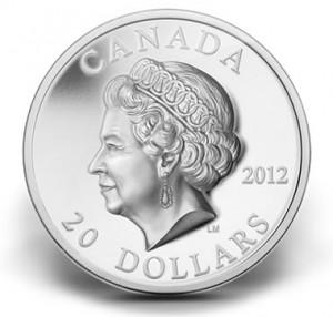 2012 $20 QUEEN'S DIAMOND JUBILEE ULTRA-HIGH RELIEF SILVER COIN