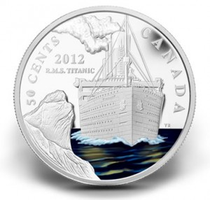 2012 50-CENT RMS TITANIC SILVER-PLATED COMMEMORATIVE COIN