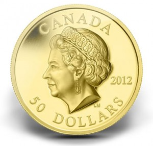 2012 $50 QUEEN'S DIAMOND JUBILEE ULTRA-HIGH RELIEF GOLD COIN