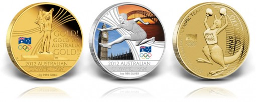 2012 Australian Olympic Team Gold, Silver and Bronze Coins