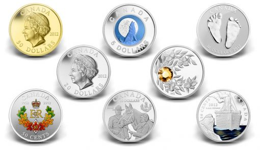 2012 Canadian Collector Coins - Diamond Jubilee, Titanic, Birthstone, Wolf Moon