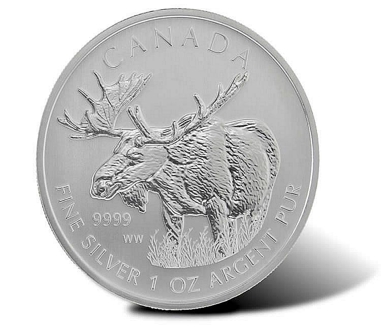 2012 Canadian Silver Moose  .9999 Fine Silver $5 Coin