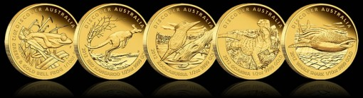 2012 Discover Australia Gold Proof Coins