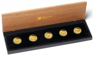 2012 Discover Australia Gold Proof Five-Coin Set