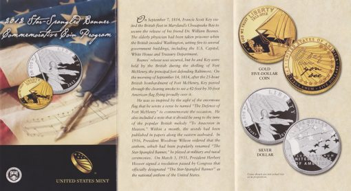 2012 Star-Spangled Banner Commemorative Coin Brochure