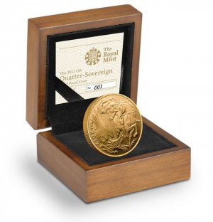 2012 UK Gold Proof Quarter Sovereign