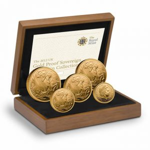 2012 UK Gold Sovereign Five Coin Collection
