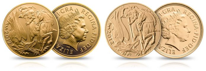 2012 UK Gold Sovereigns