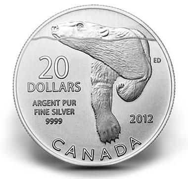Canadian $20 Polar Bear Silver Coin