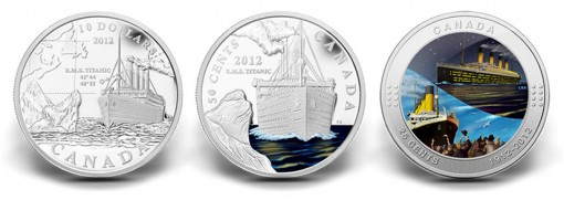 Canadian 2012 Titanic Commemorative Coins