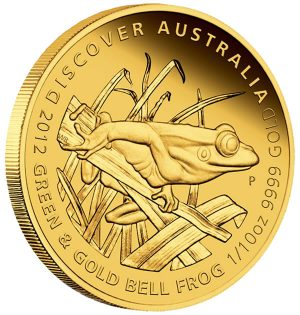 Green and Gold Bell Frog Gold Proof Coin